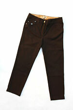 ALVIERO MARTINI PRIMA CLASSE ladybrown Pantaloni Stretch Capri DRITTA W27 uk10