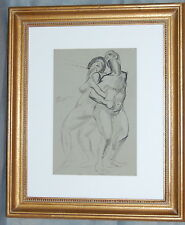 Hendrik Glintenkamp Watercolor Pen Ink Drawing Nude Man and Woman 1921