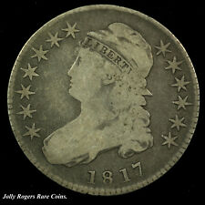 Capped Bust Silver Half Dollar. 1817. Circulated.