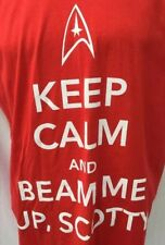 Star Trek Red XL Shirt Keep Calm And Beam Me Up Scotty Nerd Geek Trekky