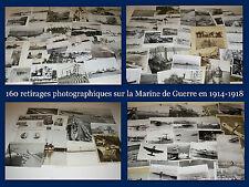 GUERRE 1914-1918 !!! PLUS DE 160 REPRODUCTIONS PHOTOGRAPHIQUES SUR LA MARINE !!!