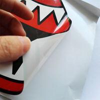 2pcs Waterproof Shark Teeth Mouth Vinyl Decal Stickers for Kayak Canoe Boat WT7n