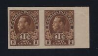 Canada Sc #MR4b (1916) 2c Admiral War Tax IMPERFORATE PAIR Die I VF