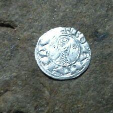 More details for knight templar silver denar coin 1163-1188 bohemond iii crusader antioch 18mm