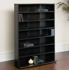 Dvd Storage Tower Cd Rack Video Game Vhs Tape Cabinet Computer Disc Case Shelves
