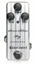One Control Sonic Silver Peg Amp-In-A-Box Bass Pre-Amp Bass Guitar Effects Pedal