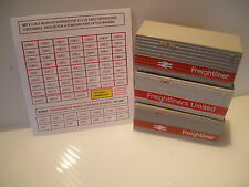 RETRODECAL FREIGHTLINER CONTAINER NUMBERS FOR TRI-ANG HORNBY SELF ADHESIVE .