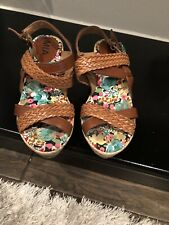 New listing Mia Girl Size 13(Kids) Wedge Sandals In Brown