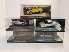 5 x Fabri James Bond 007 1:43 Model metal cars. Diorama