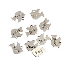 10x Tibetain Silver Dove of Peace double side  Charm Pendant Jewellery Makings