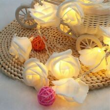 20 LED Rose Flower String Lights USB Powered Fairy Christmas Party Holiday Decor
