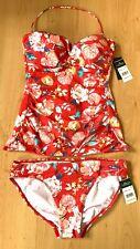 Ralph Lauren Ladies Tankini 12 Floral Slimming Swimming Costume New Floral Beach
