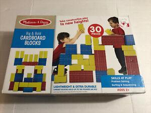 Melissa Doug 30 Giant Cardboard Building Blocks Set Jumbo Briks Preschool Toys