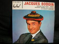 VINYL 45 T 60'S COMIQUE POP – JACQUES BODOIN : QUATRE FOIS DEUX TWIST + SCAT CAR