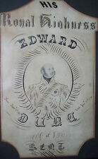 SUPERB 1861 Calligraphy Drawing Prince Edward Duke of Kent, Strathearn 1767-1820
