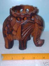 Elephant in Hardwood Handcarving .Primitive art .Nice.