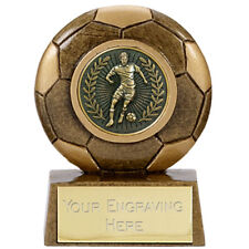 """5 x FOOTBALL Soccer Party 2.5"""" Trophies FREE ENGRAVING Personalised Awards NEW"""