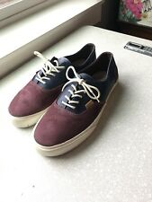 Vans CA (California) Era Blue And Red Suede Leather Size 11.5 Used