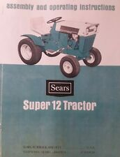 Sears Suburban Super SS/ 12 h.p Lawn Garden Tractor Owner & Parts (2 Manual s)