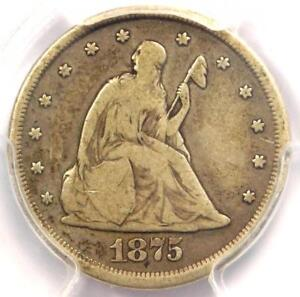 1875-CC Twenty Cent Piece 20C (Carson City) - Certified PCGS VG10 - $500 Value