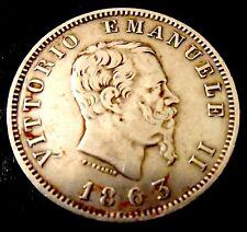 Moneta 1 Lira Vittorio Emanuele II 1863   ( 992 )