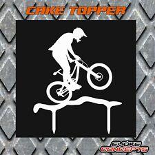 Corte láser Cake Topper-Bicicleta de montaña (MTB, ciclo, fiesta de cumpleaños, celebración,)