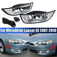 Pair Front Bumper Fog Lights Fit For Mitsubishi Lancer EX 2007 2008 2009 2010 ♁