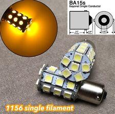 2X Amber LED Rear Signal Light S25 1156 BA15S 3497 1141 27 for Hyundai