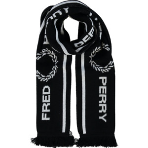 Fred Perry Mens Graphic Scarf Black/white  RRP £40 BNWT - ideal Xmas gift