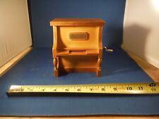 Hand Crank Wood Paper Ribbon Player Piano Music Box