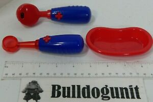 Lot of 3 Doctor Toys Only Play Medical Pretend Blue Red Otoscope
