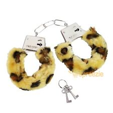 Leopard Furry Handcuffs Sexy Love Bachelorette Party Bridal Wrist Cuff Valentine