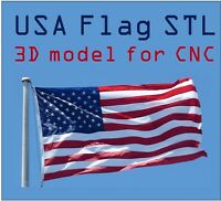 18 pcs USA Flag 3D Model STL relief for cnc STL format