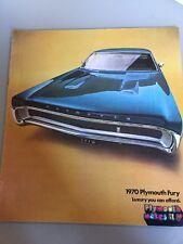 1970 Plymouth Fury ORIGINAL Large Sales Brochure