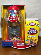 Dubble Bubble Vintage Style Plastic Gum Ball Machine Bank w/Refills