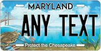MARYLAND Chesapeake Bay License Plate Novelty Personalized Any Text for Auto ATV