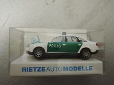 Rietze 50901Audi A6 Polizei grün/weiß in OVP aus Polizei-Sammlung (*4)