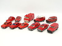 Wiking 1/87 HO - Lot de 11 véhicules Pompiers Feuerwehr : Mercedes - VW - Ford