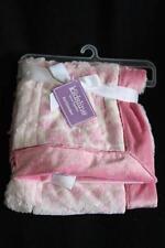 KidsLine Plush Faux Fur Pink Giraffe Patchwork Baby Blanket NWT