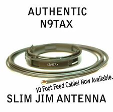 Authentic N9TAX VHF Slim Jim J-Pole For HT 2 Meter Antenna 10' Coax !!!