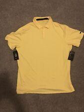 Nike Tiger Woods Golf Polo Shirt Men's SIZE L Short Sleeve Yellow Dri Fit ($85)