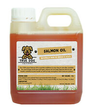 100% Pure Salmon Oil 1 Litre - Salmon Oil for Dogs 1000ml - Omega 3, 6 & 9