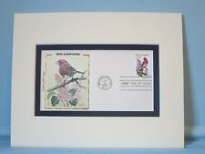 State Bird & Flower of New Hampshire - Purple Finch & Lilac & First Day Cover