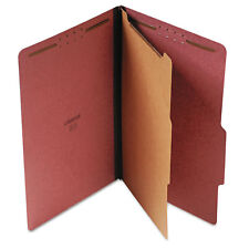 Universal Pressboard Classification Folder Legal Four-Section Red 10/Box 10260