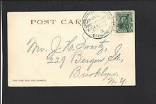 DETROIT, MICHIGAN, PICTURE POSTCARD, 1904,#300, DETROIT & ALGONAC STEAMBOAT RFD.