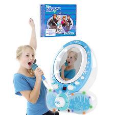 Easy Karaoke EKG8011 Brillo CDG karaoke máquina y disco de Frozen de Disney-Azul