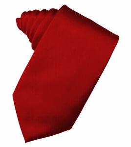 Solid RED Tie Plain Classic 100% New Silk Necktie Men's Tie Donald Trump Style