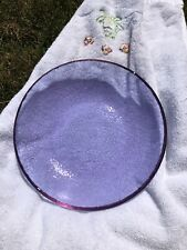 Fire and Light Recycled Glass Lavender 9-inch Pasta Bowl HTF!
