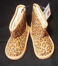 New Garanimals Infant/Toddler Girl's Shearling Leopard Print Boots Size 5 Nwt