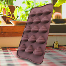 Cute Nice 1 pcs Emoji Poop Face Silicone Mold For Cake Chocoloate DIY Tool